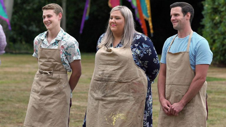 It was a close run final, with Dave (R) coming runner up to Peter. Pic: Channel 4/Bake Off
