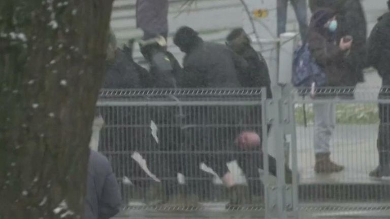 Belarus forces detains 100 protesters