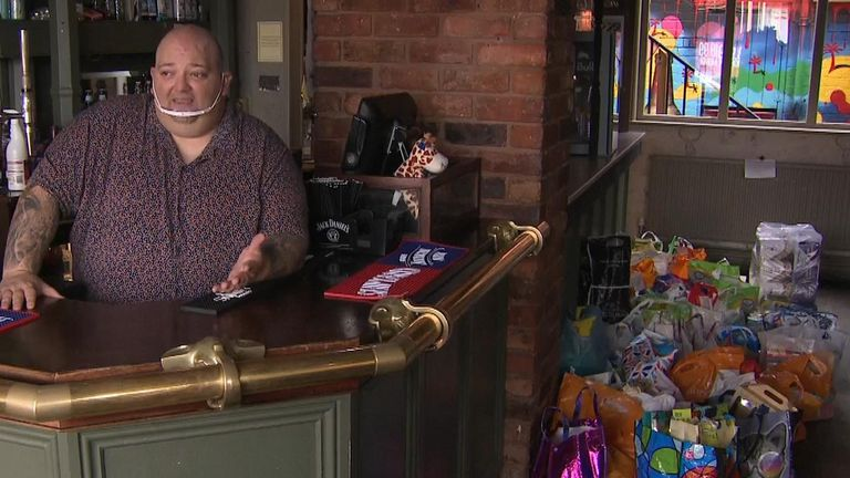 Station Inn manager Darren Paul says more of his work 'is for the food bank than the pub'