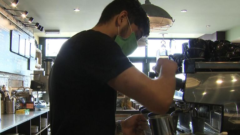 Barista Shazad Ali said: 'The last lockdown we did takeaway for a week and then we shut down'