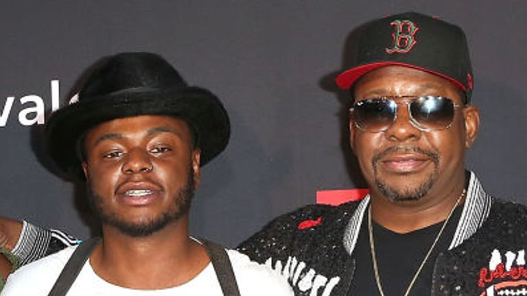 Bobby Brown Jr, left, is seen with his father in 2018