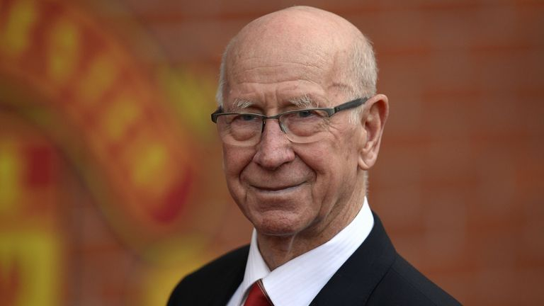 FBL-ENG-PR-MAN UTD-EVERTON Manchester United's English former player Bobby Charlton poses for a photograph before the English Premier League football match between Manchester United and Everton at Old Trafford in Manchester, north west England, on April 3, 2016. - Manchester United have renamed the south stand at Old Trafford in honour of club great Bobby Charlton. A key member of the England team that won the 1966 World Cup, the 78-year-old Charlton scored a club record 249 goals in 758 appeara