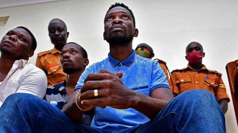 Bobi Wine appeared in court in Iganga, eastern Uganda
