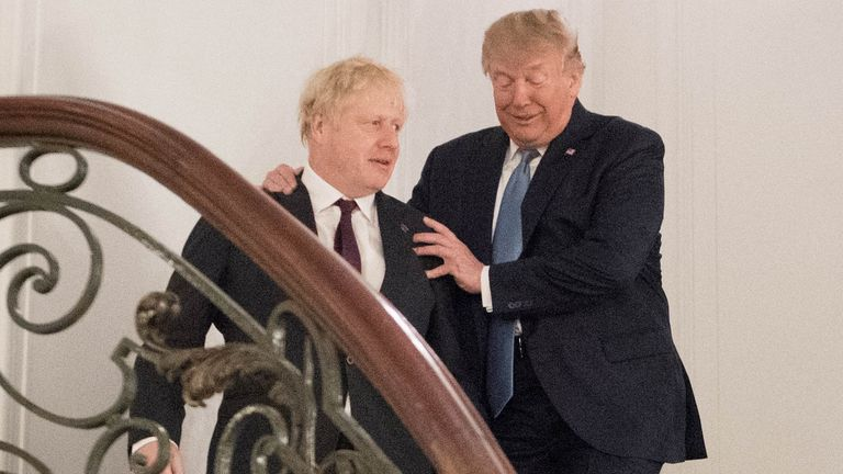 Donald Trump says he likes Boris Johnson
