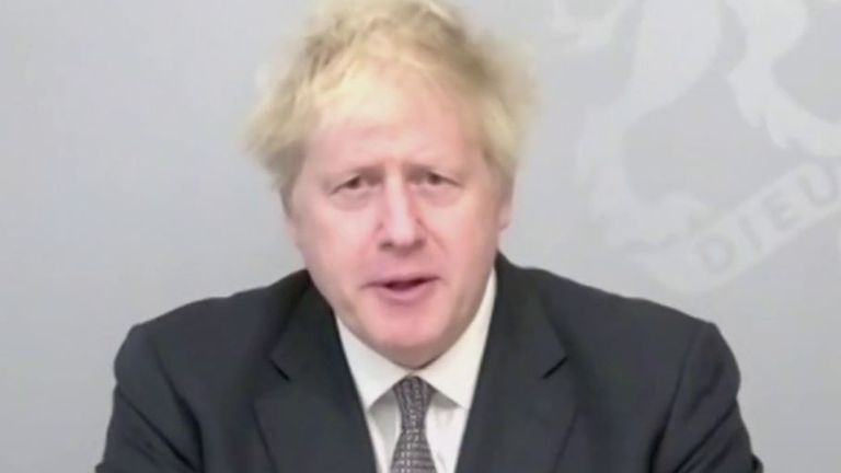 Boris Johnson conducts PMQs remotely for the first time