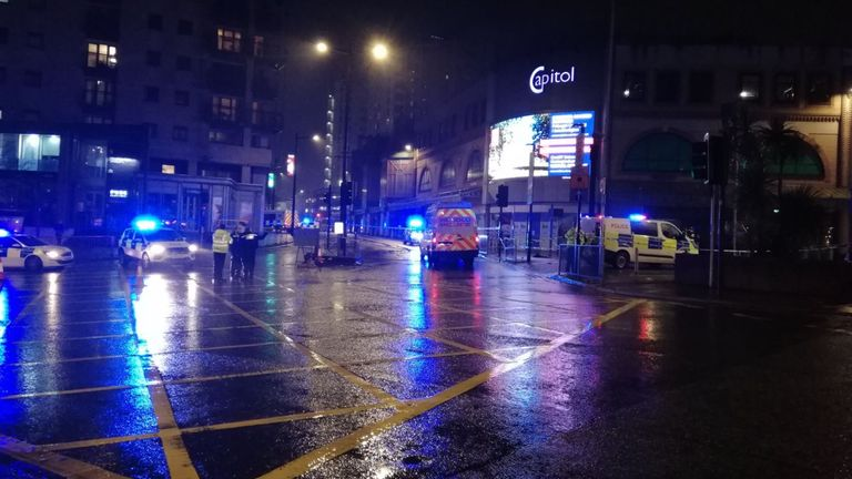 The scene of the incident in Cardiff. Pic: Sophie Zermatten