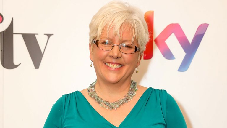 Carrie Gracie attends the Sky Women in Film and Television UK Awards 2018 at the London Hilton on December 7, 2018 in London, England