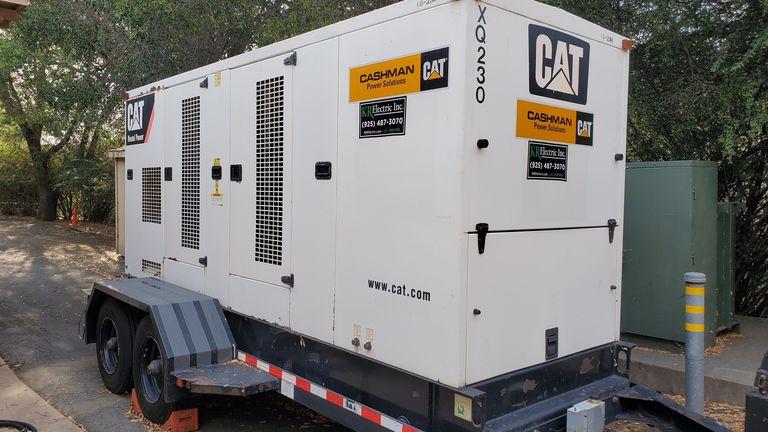 A Caterpillar electric generator