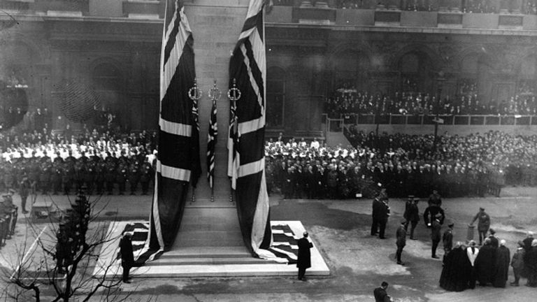 King George V unveiled the Cenotaph 100 years ago