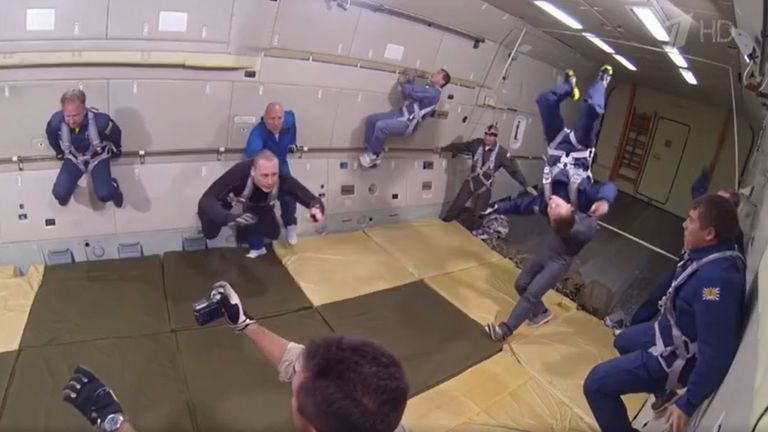 Training will include weightless flights. Pic: Russia/Channel One