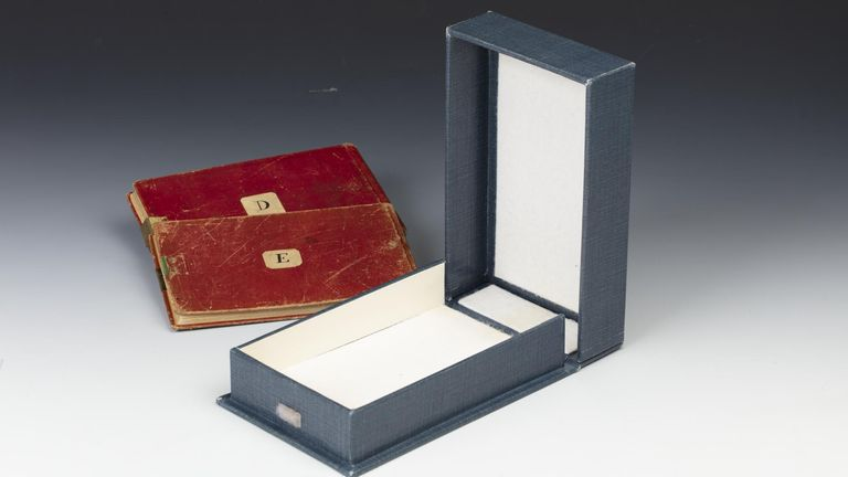 The two missing notebooks. Pic: Cambridge University Library