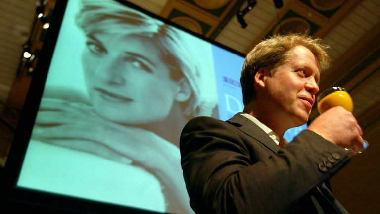 Princess Diana's brother Earl Charles Spencer announces a Diana exhibit in downtown Toronto....