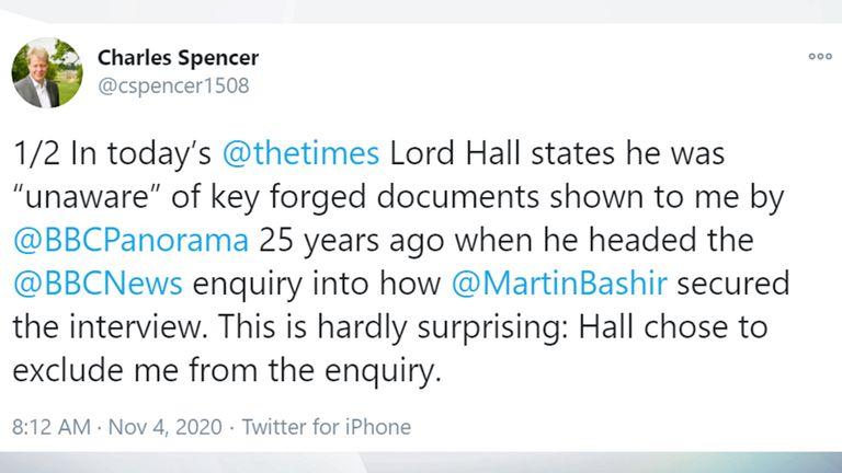 Charles Spencer tweet