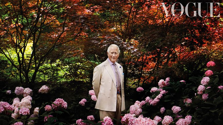 Undated handout photo issued by Vogue of the Prince of Wales who has spoken about the 'extraordinary trend of throw-away clothing' in an interview with fashion bible British Vogue.