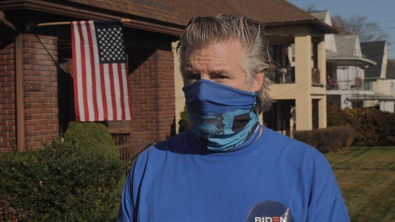 Chris Kelleher spoke just a few doors down from Joe Biden's childhood home