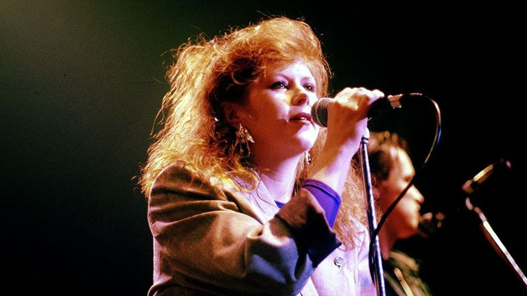 Kirsty MacColl Performing With The Pogues in 1988 Pic: Brian Rasic/Getty Images