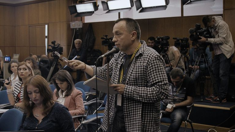 Catalin Tolontan was the newspaper editor who led the campaign for truth. Pic: Magnolia Pictures