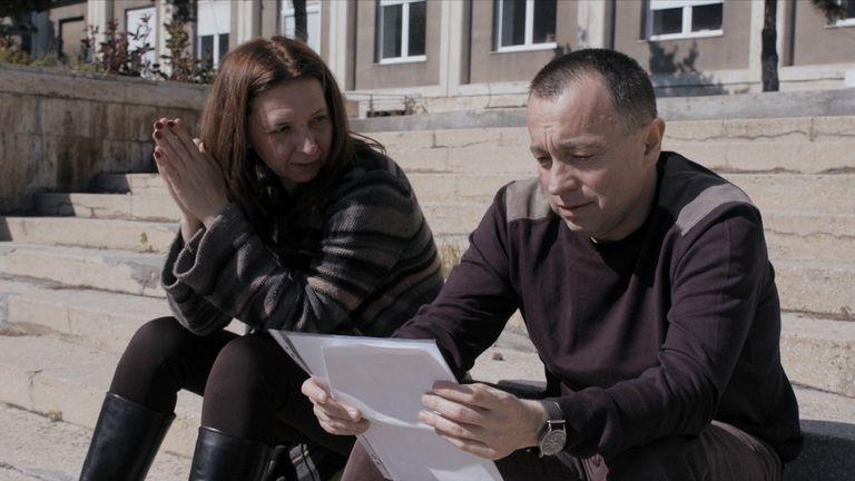 Sports Gazette editor-in-chief Tolontan and editor Mirela Neag. Pic: Magnolia Pictures