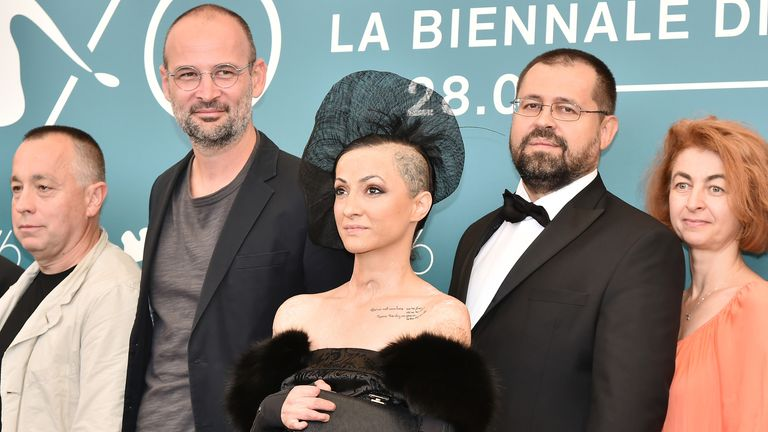 The Collective team at the Venice Film Festival in 2019