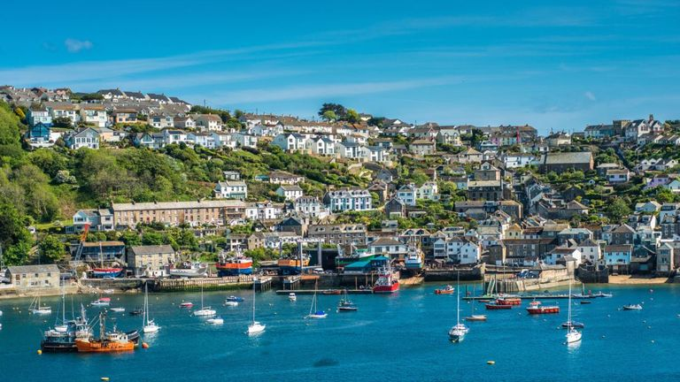 The small coastal town of Fowey in Cornwall has the third highest rise in average asking price for properties