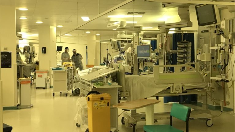The intensive care unit at University Hospital Coventry