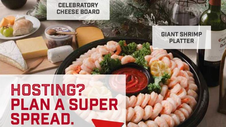 Giant Foods was advertising a party ring of prawns. Pic: Giant Foods