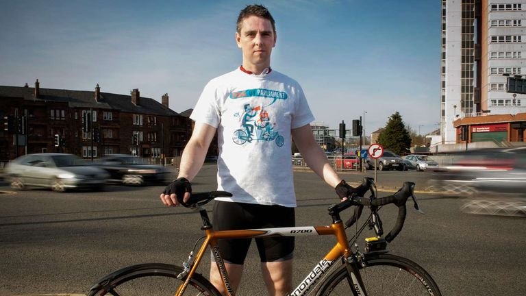 David Brennan claimed he was attacked in a road rage incident in Glasgow. Pic: Iona Shepherd