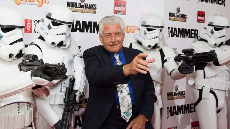 LONDON, UNITED KINGDOM - JUNE 16: Dave Prowse aka Darth Vader attends the Metal Hammer Golden Gods awards at Indigo2 at O2 Arena on June 16, 2014 in London, England. (Photo by Jo Hale/Getty Images)