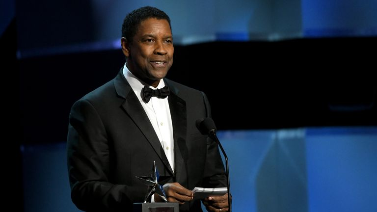 HOLLYWOOD, CALIFORNIA - JUNE 06: Honoree Denzel Washington speaks onstage during the 47th AFI Life Achievement Award honoring Denzel Washington at Dolby Theatre on June 06, 2019 in Hollywood, California. (Photo by Michael Kovac/Getty Images for AFI)