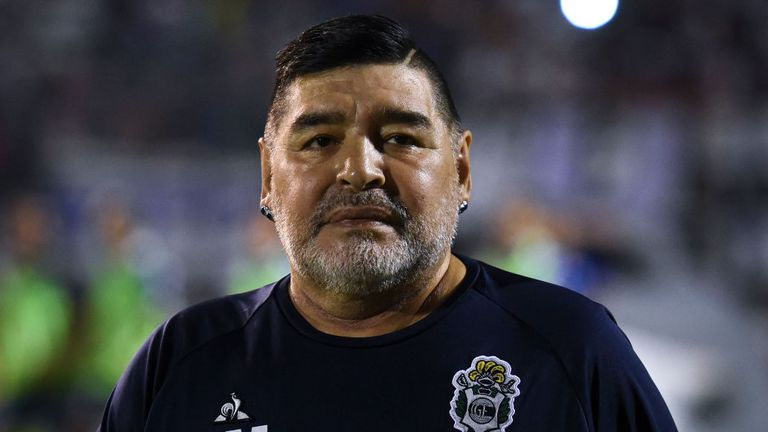 Maradona, pictured here in January, is reportedly set to have surgery