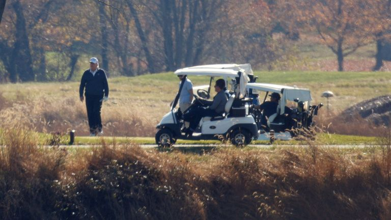 Donald Trump plays golf, November 8th