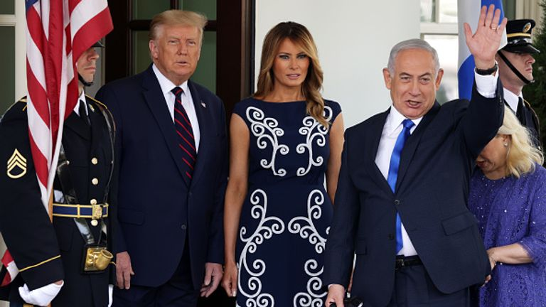 The Israeli prime minister is pictured in Washington in September