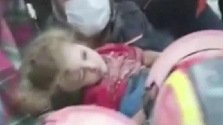 3-year-old girl pulled from rubble in Turkey