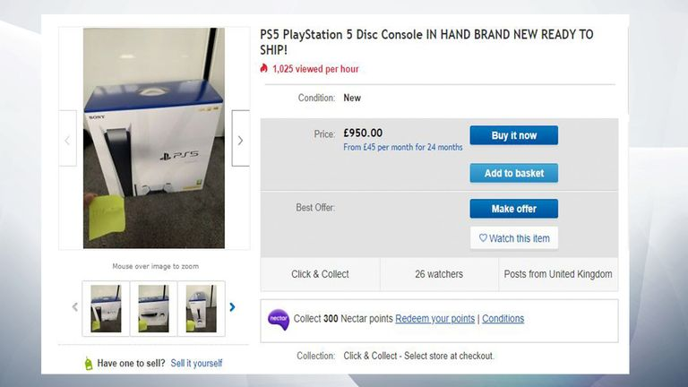 The consoles are already being listed on eBay for more than double the price
