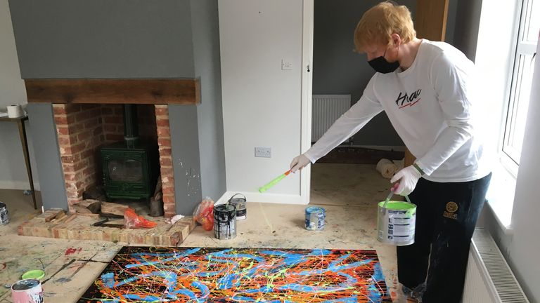 Ed Sheeran painting Dab 2