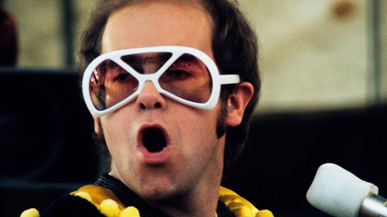 Sir Elton is known for his zany outfits