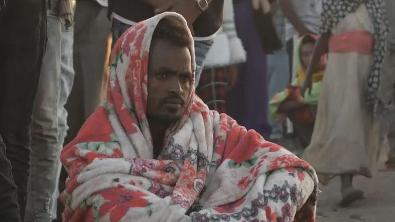 Thousands of people fleeing Ethiopia's Tigray region are crossing the border to Sudan