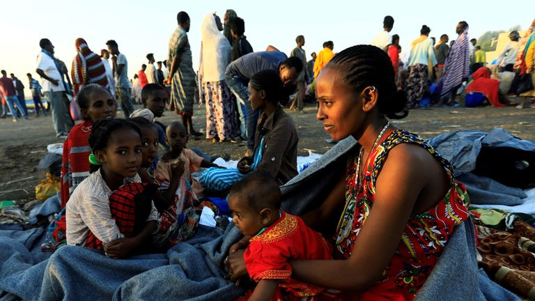 Tens of thousands have fled the ongoing fighting in Tigray, Ethiopia