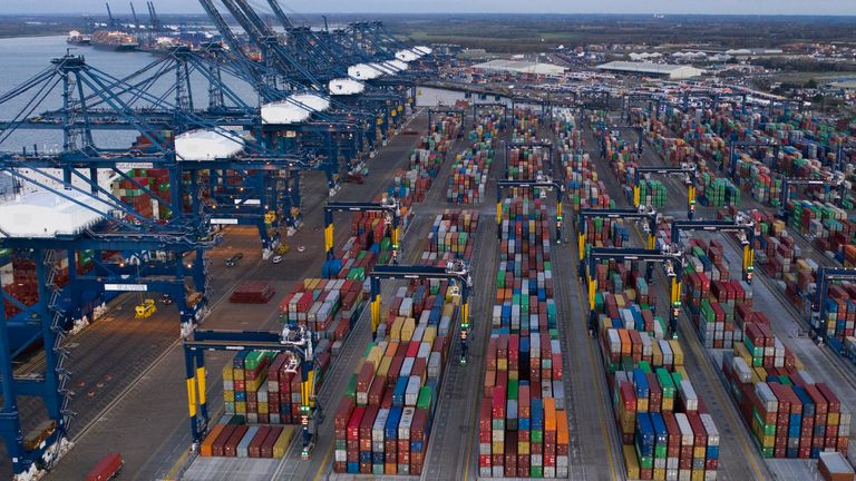 Felixstowe Port Congested Amid Brexit Stockpiling And Pandemic Pressures