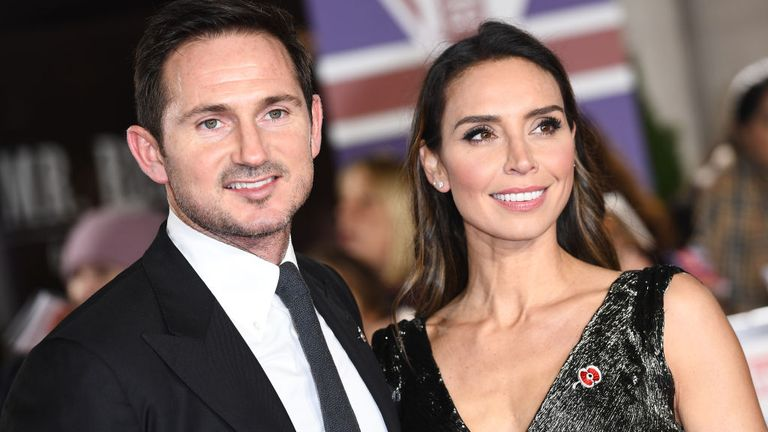 LONDON, ENGLAND - OCTOBER 28: Frank Lampard and Christine Lampard attend Pride Of Britain Awards 2019 at The Grosvenor House Hotel on October 28, 2019 in London, England. (Photo by Jeff Spicer/Getty Images)