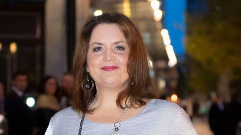 Ruth Jones from Gavin and Stacey defended her character singing the song in last year's Christmas episode Pic: Matthew Horwood/Getty Images