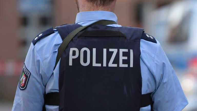 File photo of police in Germany