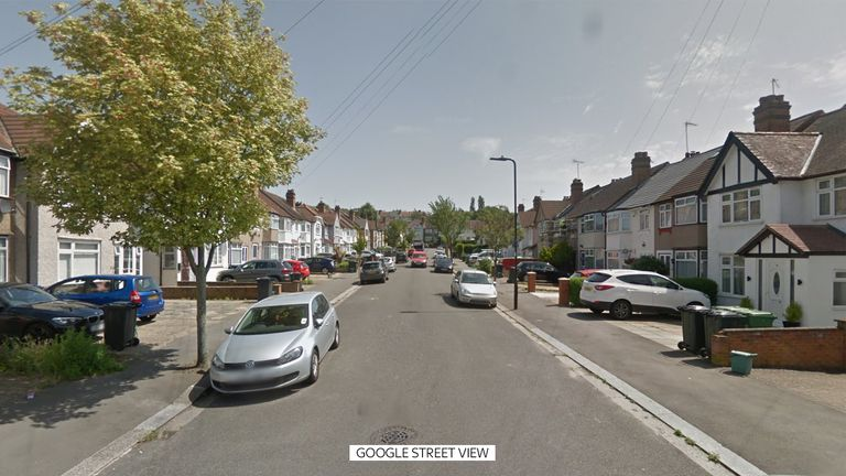 Drew Gardens, Greenford, where a murder investigation was launched after a woman, 62, died with head injuries on Wednesday 25 November