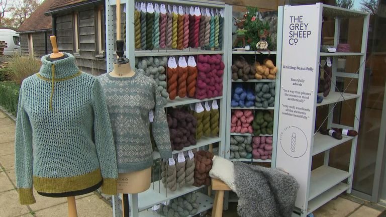 The Grey Sheep Co, in Hampshire, transforms wool into knitting yarn