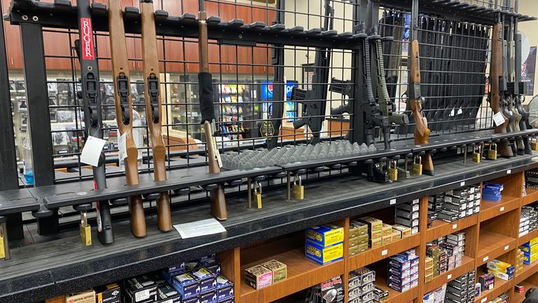 Gun shop in the US
