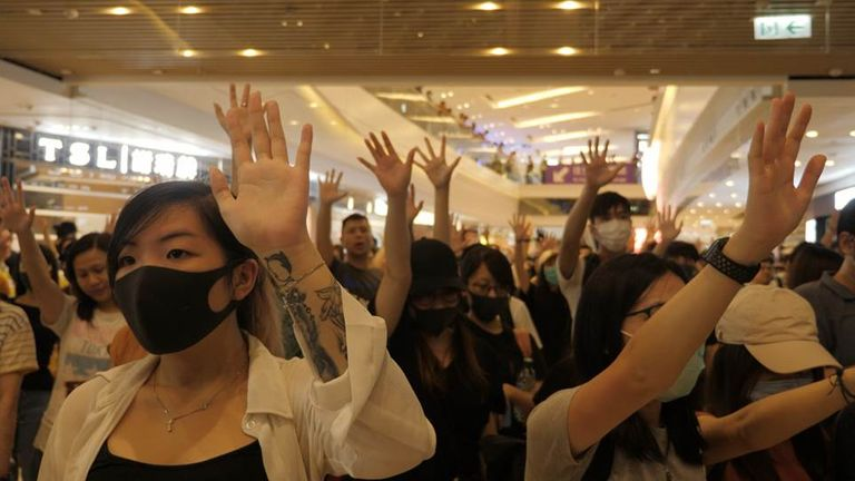 Democracy protests erupted in Hong Kong last year