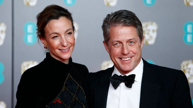 Hugh Grant says he and his wife Anna Eberstein had coronavirus in February