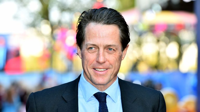 Hugh Grant says he realised he was unwell when he could not smell anything