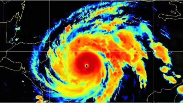 Hurricane Iota. Pic: NOAA/NESDIS/STAR
