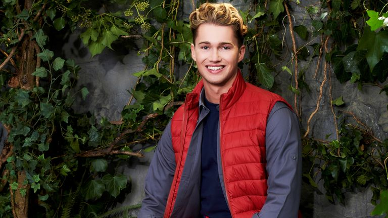 I'm A Celebrity... Get Me Out Of Here! AJ Pritchard. Pic: ITV